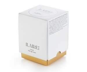 Packaging of Ilaire's 30ml gold serum